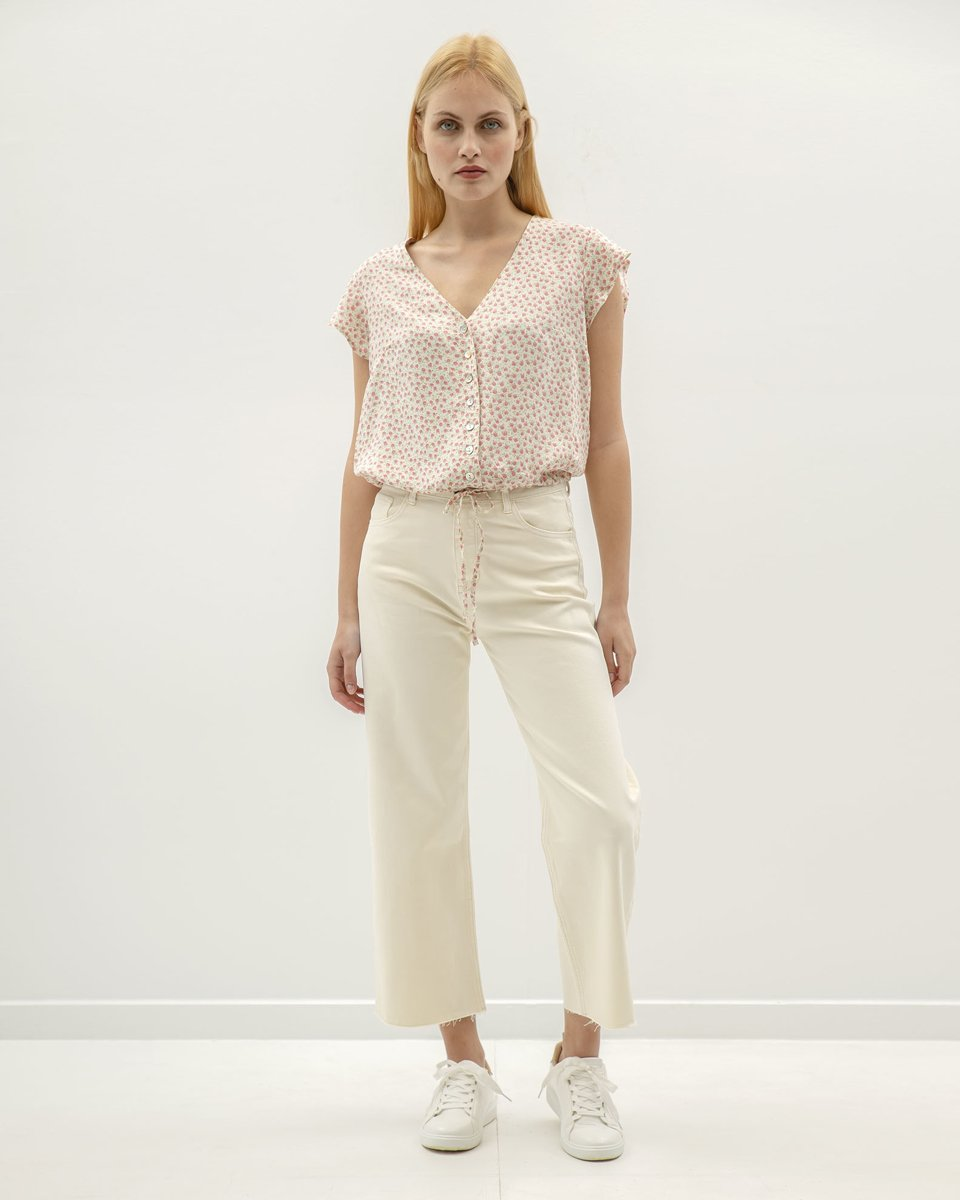 """Picture of Women's Denim Pants """"Nia"""" in Off-White"""