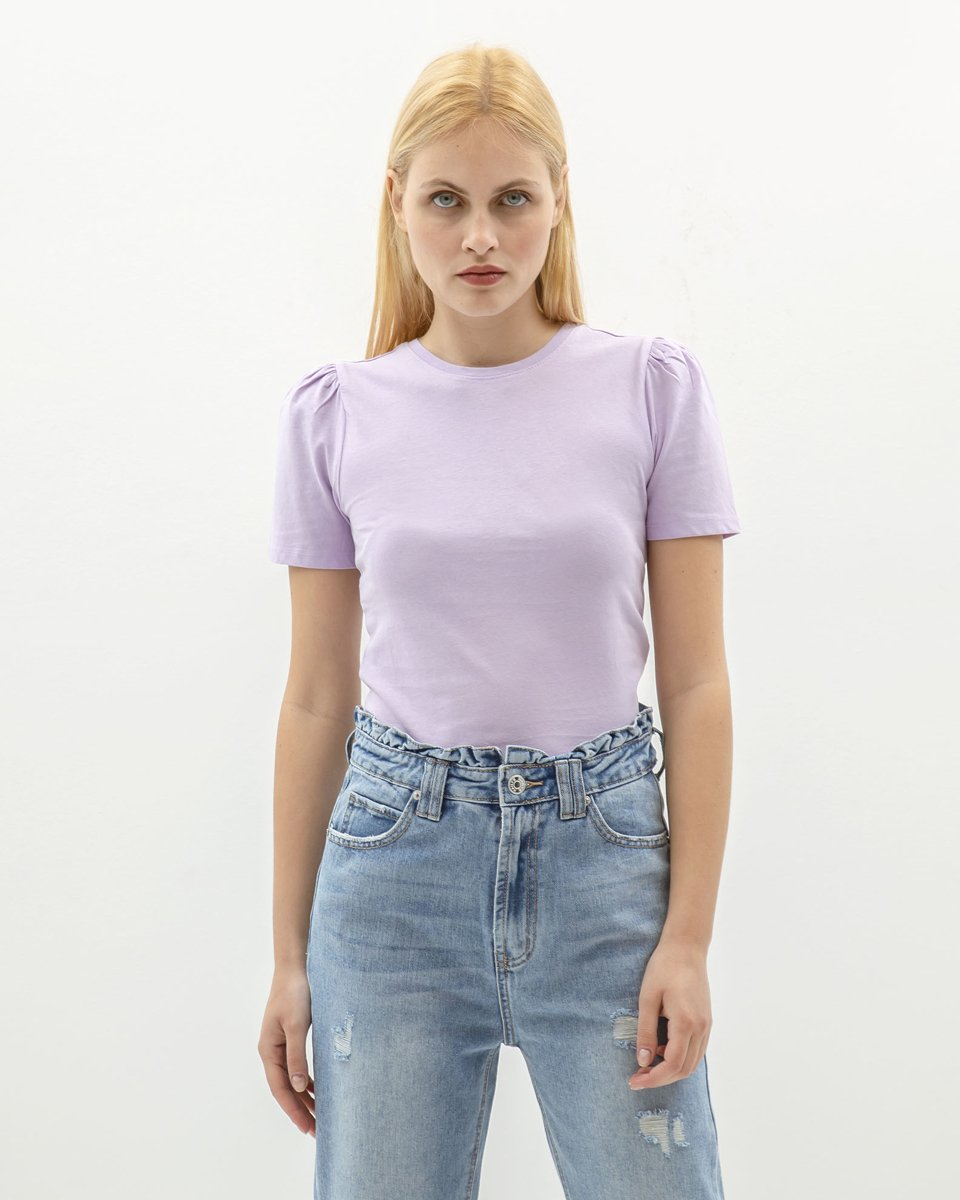 "Picture of Women's Short Sleeve Top ""Ina"" in Lilac"