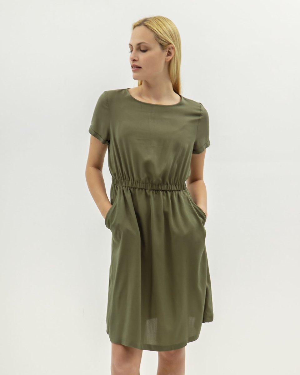 "Picture of Midi Dress ""Denise"" in Khaki"