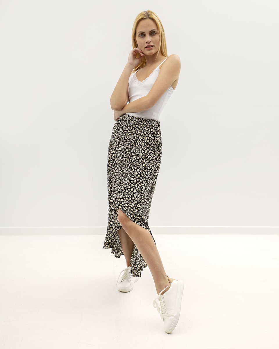 """Picture of Maxi Floral Skirt """"Sophie"""" in Black"""