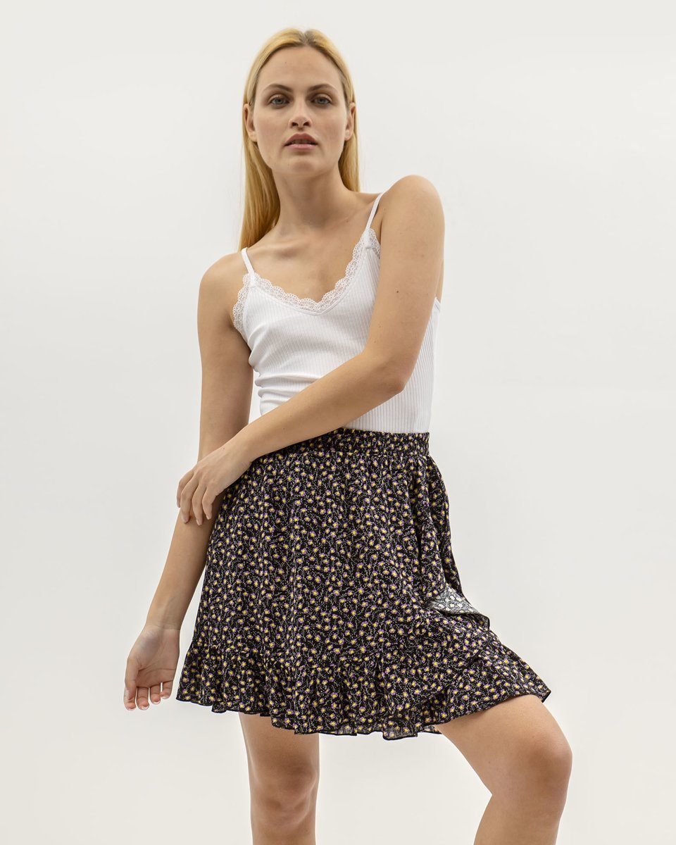"""Picture of Mini Printed Skirt """"Kira"""" in Lilac"""