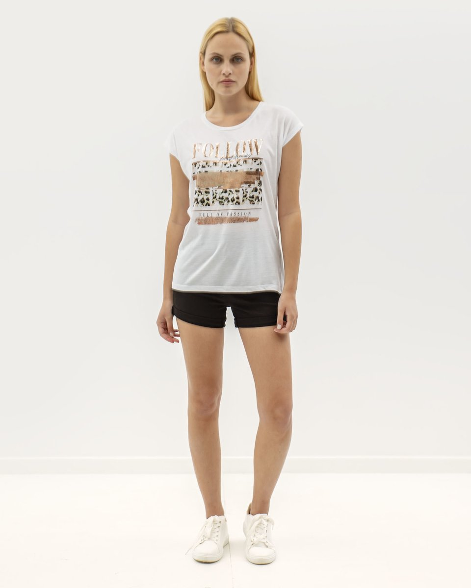 "Picture of Women's Short Sleeve T-Shirt ""Joanna"" in White"