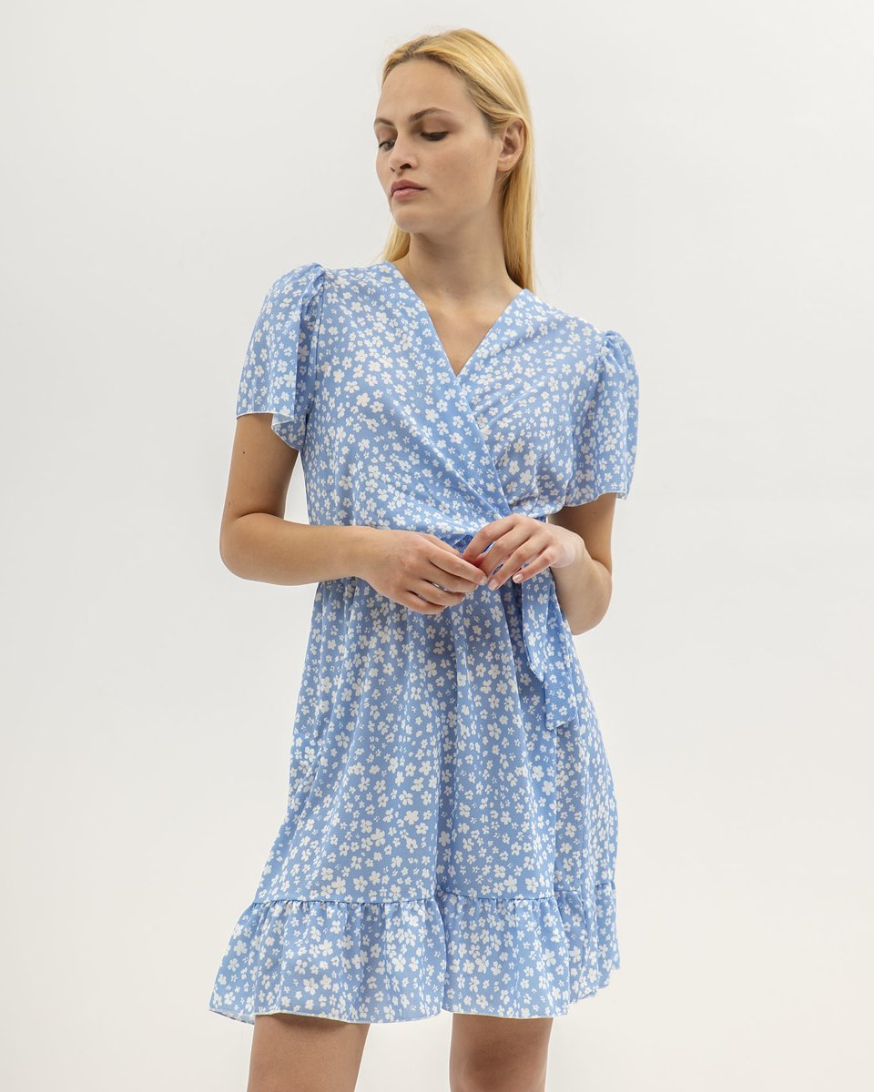 "Picture of Mini Floral Dress ""Sina"" Blue"