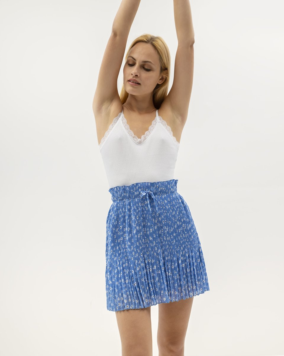 "Picture of Mini Printed Skirt ""Milla"" in Blue"