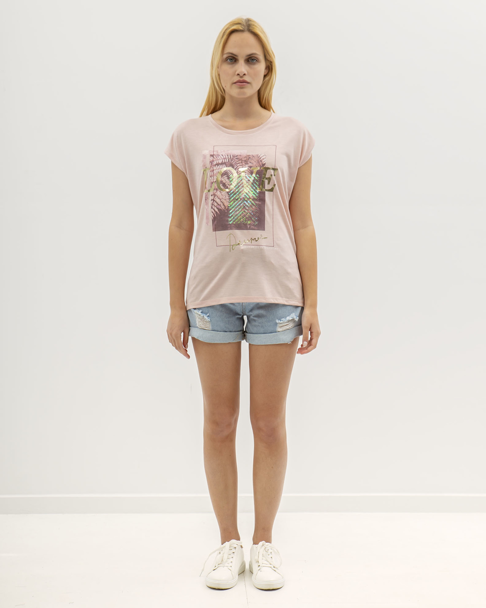 """Picture of Women's Short Sleeve T-Shirt """"Liv"""" in Rose"""