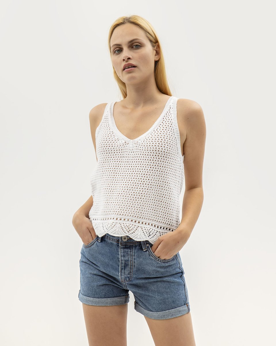 Picture of Women's Sleeveless Top Coco in Off-White