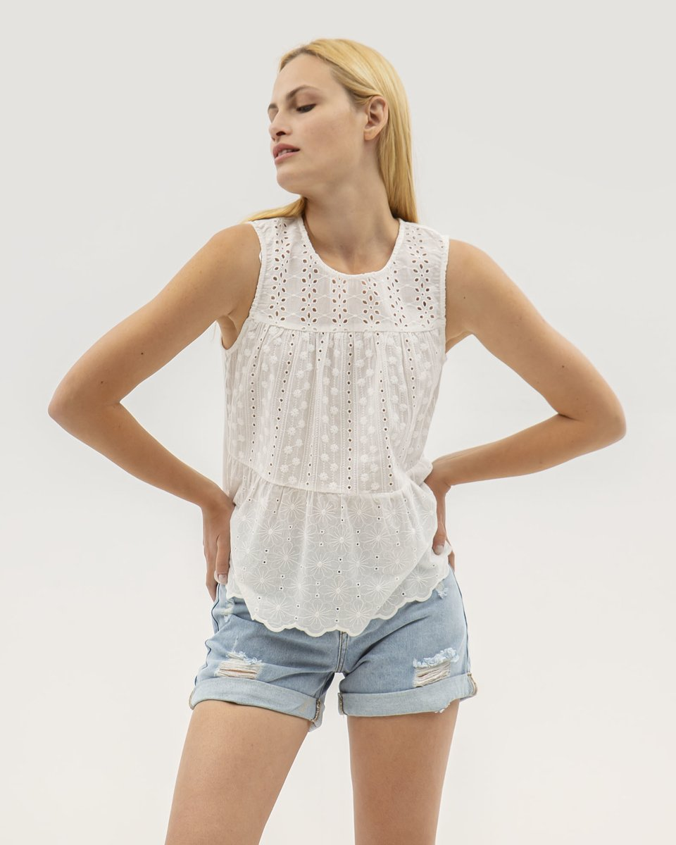 """Picture of Women's Sleeveless Top """"Toni"""" in Off-White"""