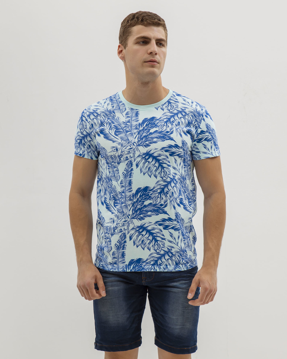 Picture of Men's Short Sleeve T-Shirt in Blue