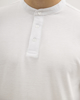 Ανδρική Μπλούζα Πόλο Κοντομάνικη με Γιακά Μάο Λευκό