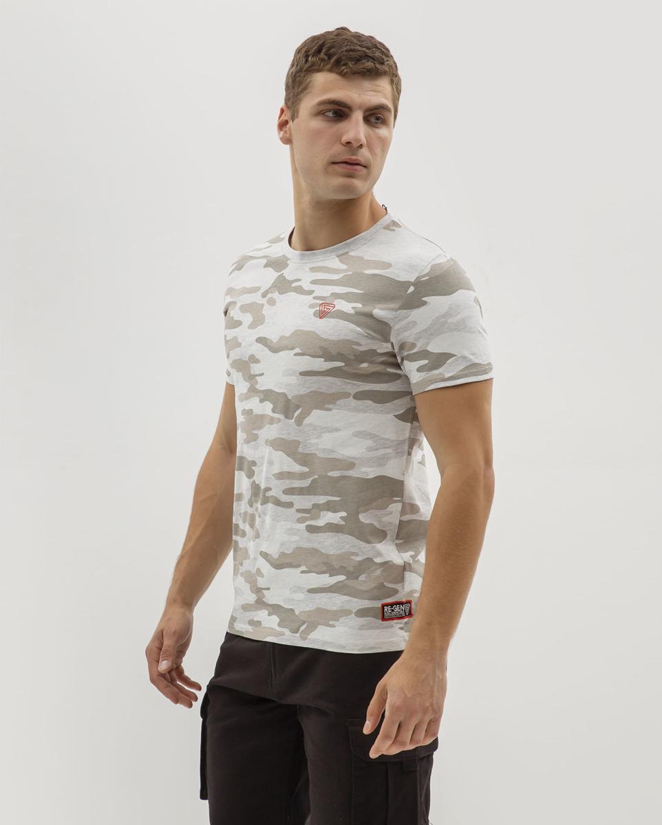 Ανδρικό Κοντομάνικο T-Shirt Παραλλαγής Γκρι