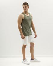 """Picture of Men's  Basic Sleeveless Tank """"Singlet"""" in Khaki"""