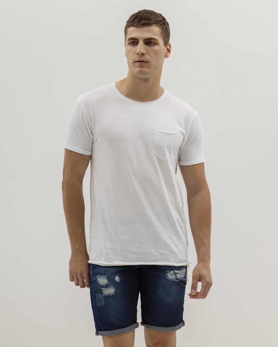 """Picture of Men's Basic Sleeveless T-Shirt """"Singlet"""" in White"""