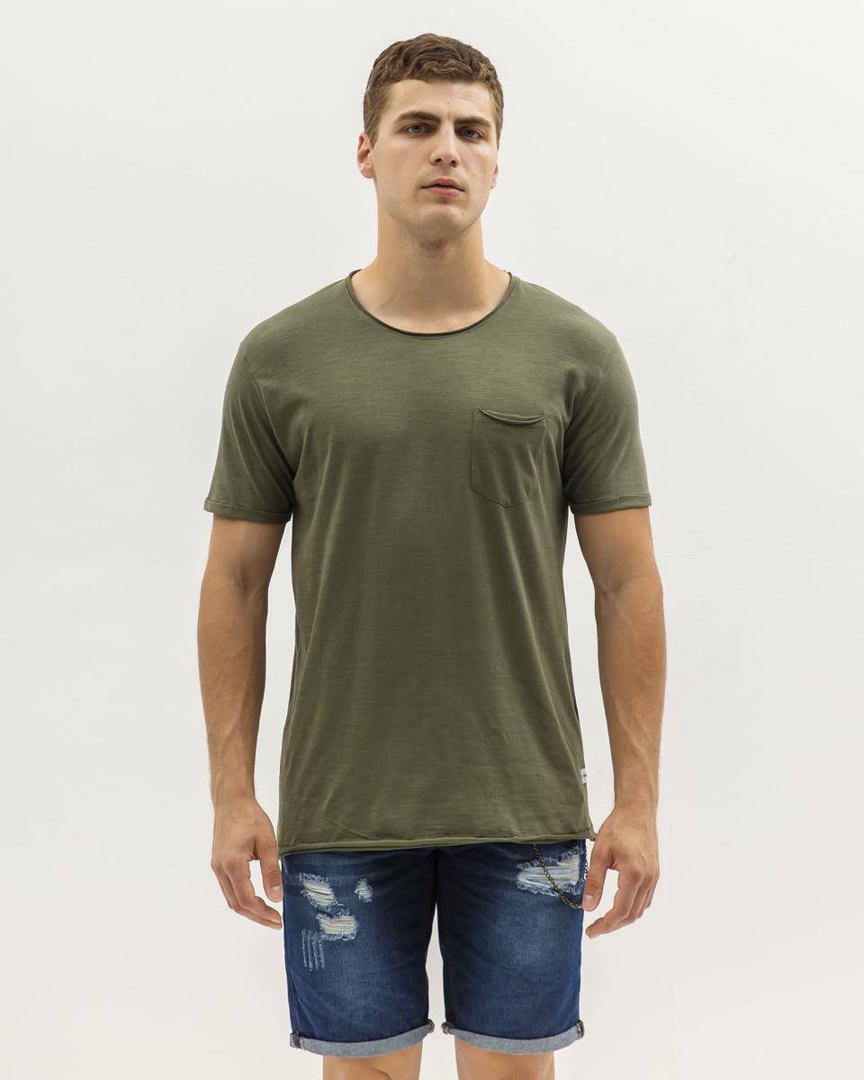 """Picture of Men's Basic Sleeveless T-Shirt """"Singlet"""" in Khaki"""