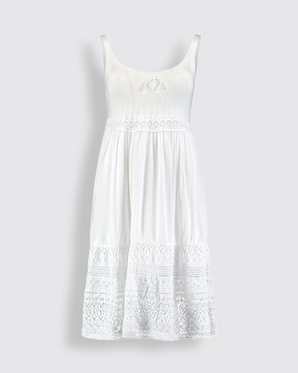 """Picture of Sleeveless Dress """"Tia"""" in White"""