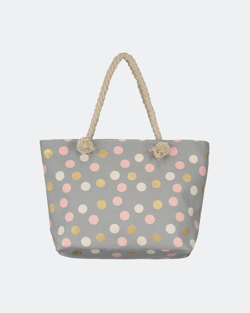 """Picture of Printed tote bag """"Samila"""" with Dots"""