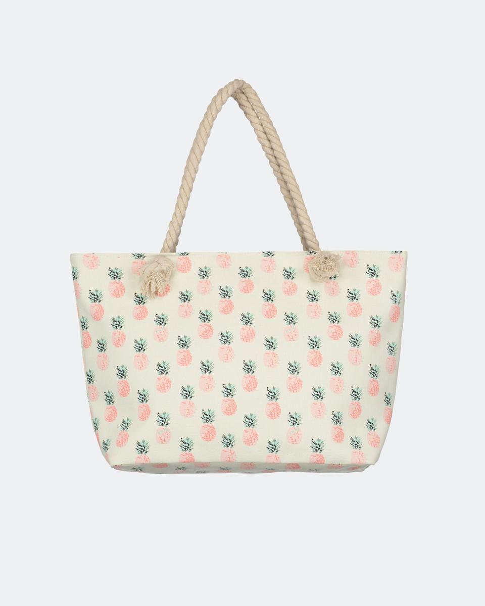 "Printed tote bag ""Samila"" με σχέδιο Ανανά"