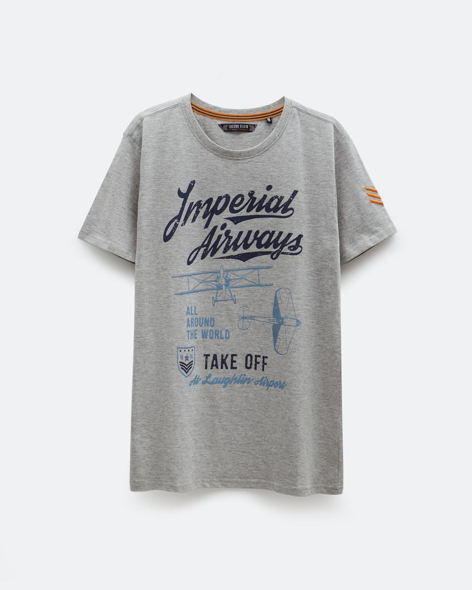 Ανδρικό Κοντομάνικο T-Shirt Γκρι