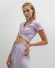 """Picture of Women's Short Sleeve Top """"Ivy"""" in Lilac"""
