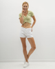 """Picture of Women's Short Sleeve Top """"Ivy"""" in Soft Green"""
