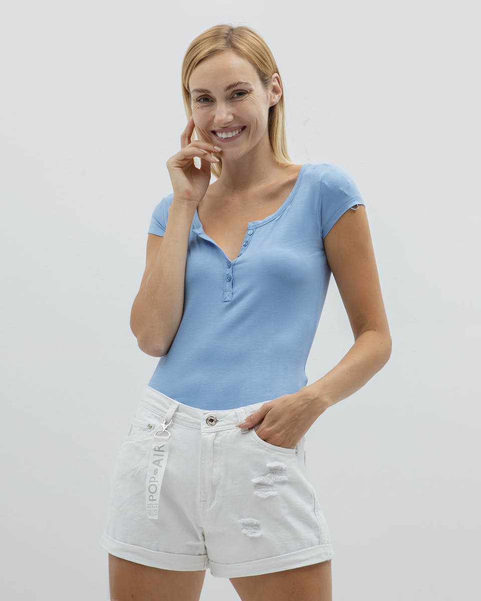"""Picture of Women's Sleeveless Top """"Henna"""" in Blue"""