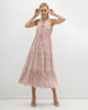 """Picture of Maxi Floral Dress """"Hope"""" in Off-White"""