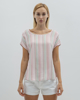 """Picture of Women's Striped Short Sleeve Blouse """"Farina"""" Multicolor"""