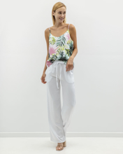 Picture of Women's Wide Leg Trousers in White