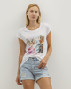 """Picture of Women's Short Sleeve T-Shirt """"Diane"""" in White"""