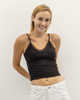 """Picture of Strappy crop top """"Milla"""" in Black"""