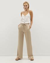 """Γυναικεία Παντελόνα """"Stretch Waist Wide-Legged"""" σε Χρώμα Μπεζ"""