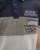 Ανδρική Μπλούζα Πόλο Κοντομάνικη Ανοιχτό Γκρι