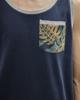 Picture of Men's Sleeveless T-Shirt in Dark Blue