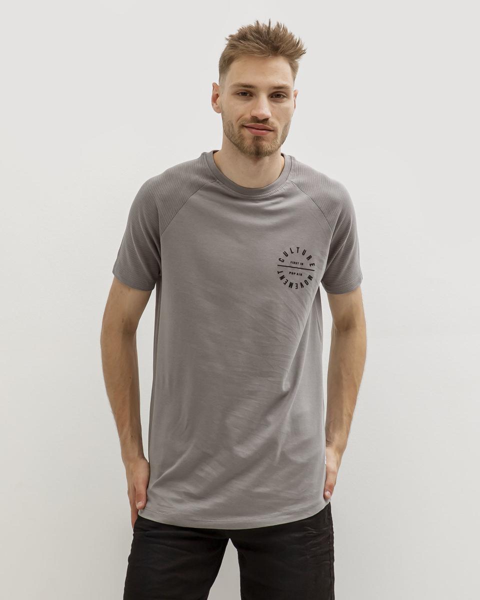 """Ανδρικό Κοντομάνικο T-Shirt """"Culture"""" Γκρι"""