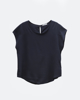 """Picture of Women's Short Sleeve Blouse """"Farina"""" in Blue Navy"""