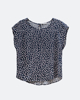 """Picture of Women's Printed Short Sleeve Blouse """"Farina"""" in Blue"""