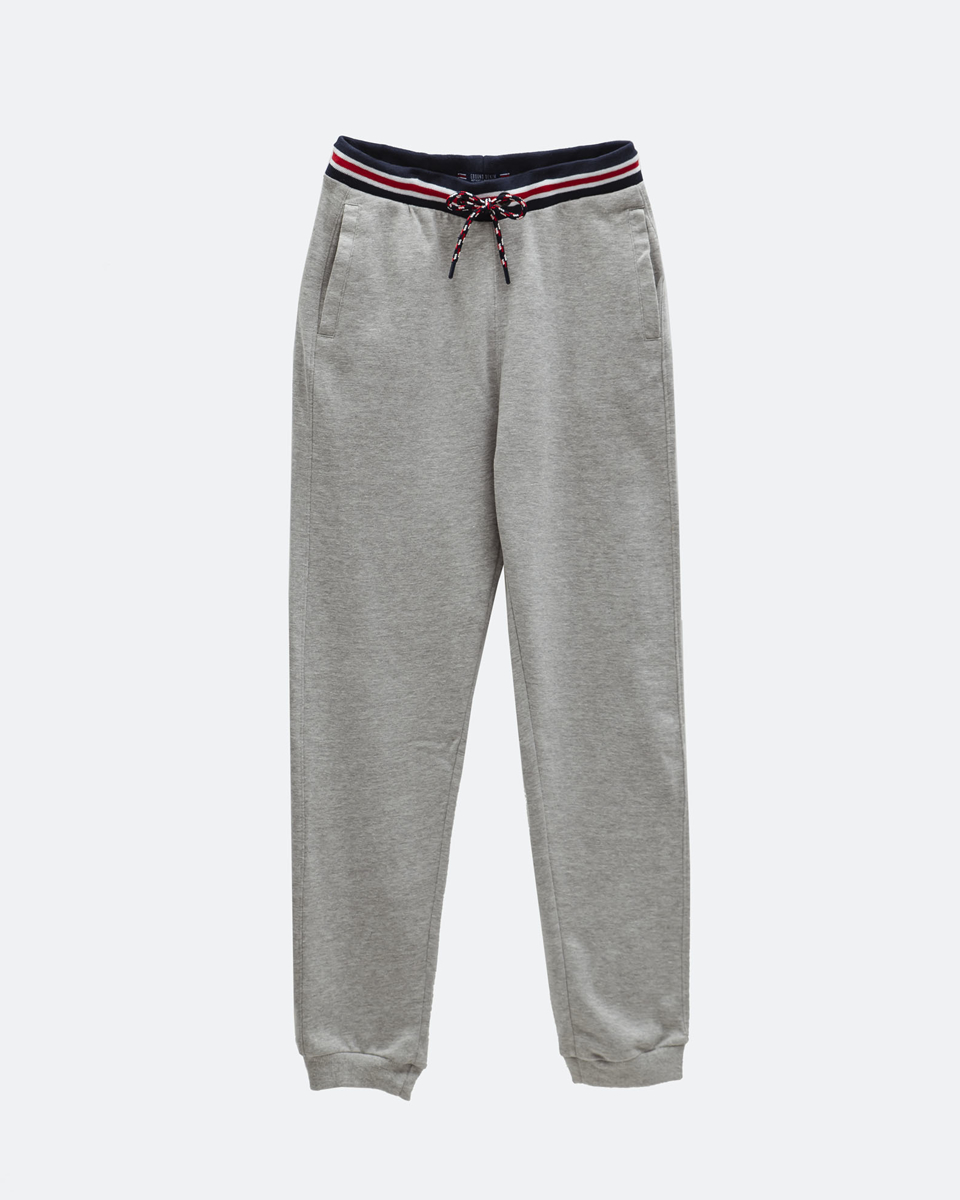 Ανδρικό Παντελόνι Φόρμας Τύπου Jogger σε Χρώμα Γκρι Μελανζέ
