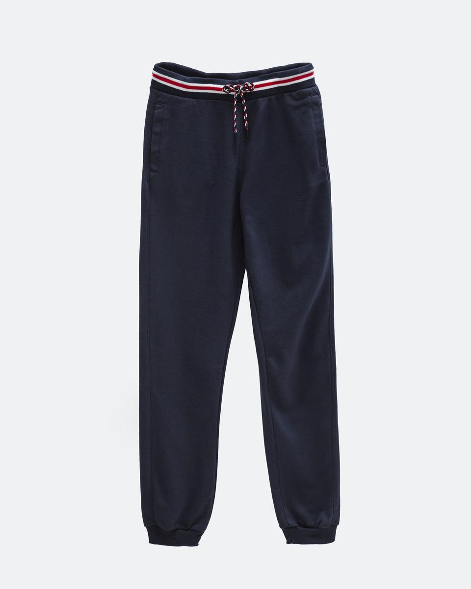Ανδρικό Παντελόνι Φόρμας Τύπου Jogger σε Χρώμα Σκούρο Μπλέ