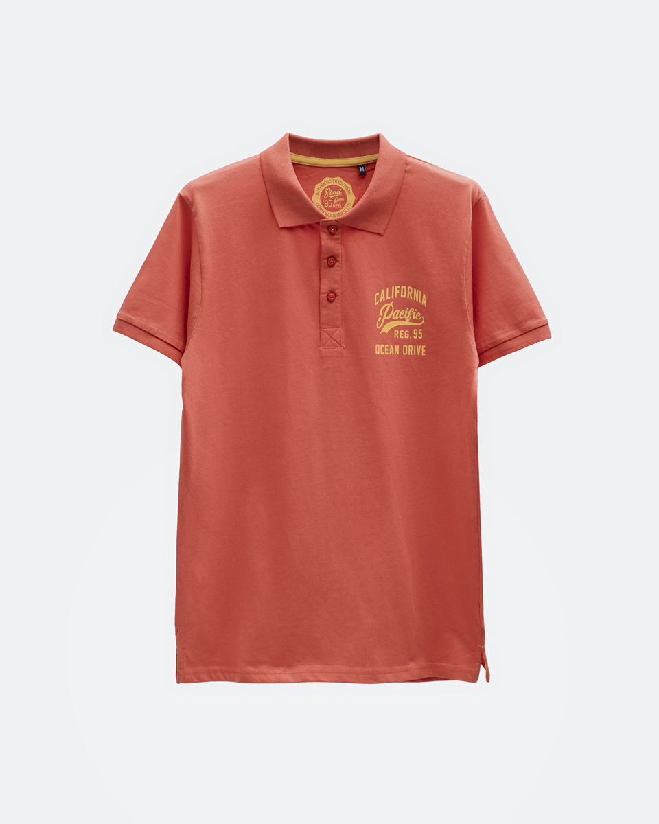 Picture of Men's Polo Short Sleeve Shirt in Coral