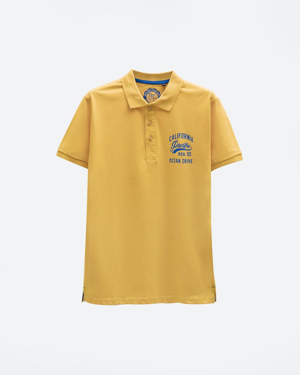 Ανδρική Μπλούζα Πόλο Κοντομάνικη Κίτρινο