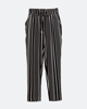 """Picture of Women's Striped Trousers """"Ricky"""" in Black"""