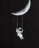 """Ανδρικό Κοντομάνικο T-Shirt """"Moon Swing"""" Μαύρο"""
