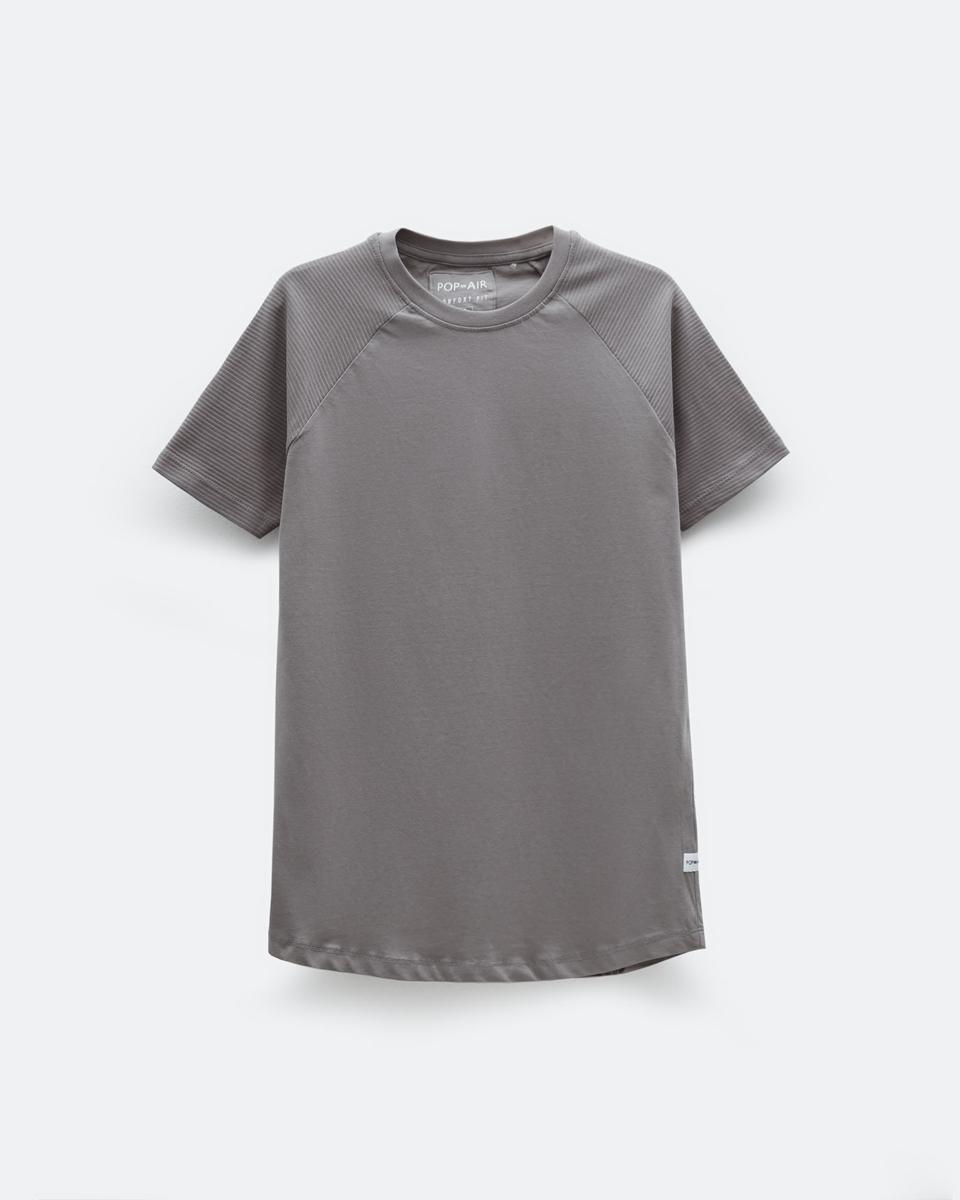 """Ανδρικό Κοντομάνικο T-Shirt """"Dylan"""" Γκρι"""