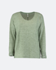 """Picture of Women's 3/4 Blouse Soft Touch """"Mera"""" in Basil"""