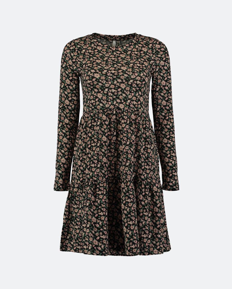 "Picture of Floral Mini Dress ""Ida"" in Black"