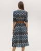 """Picture of Printed Midi Dress """"Karen"""" in Blue Denim"""