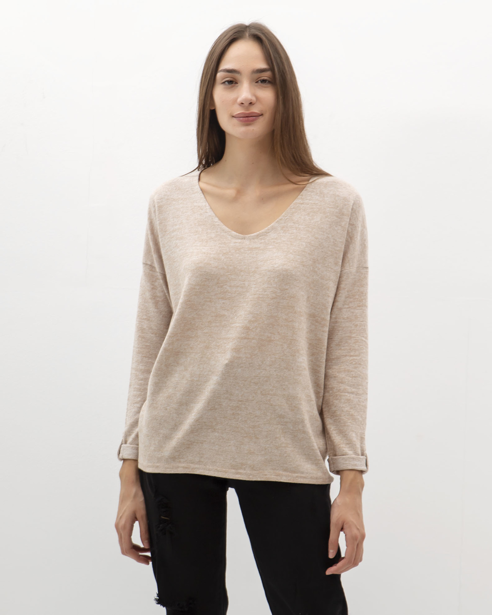 """Picture of Women's 3/4 Blouse Soft Touch """"Mera"""" in Beige"""