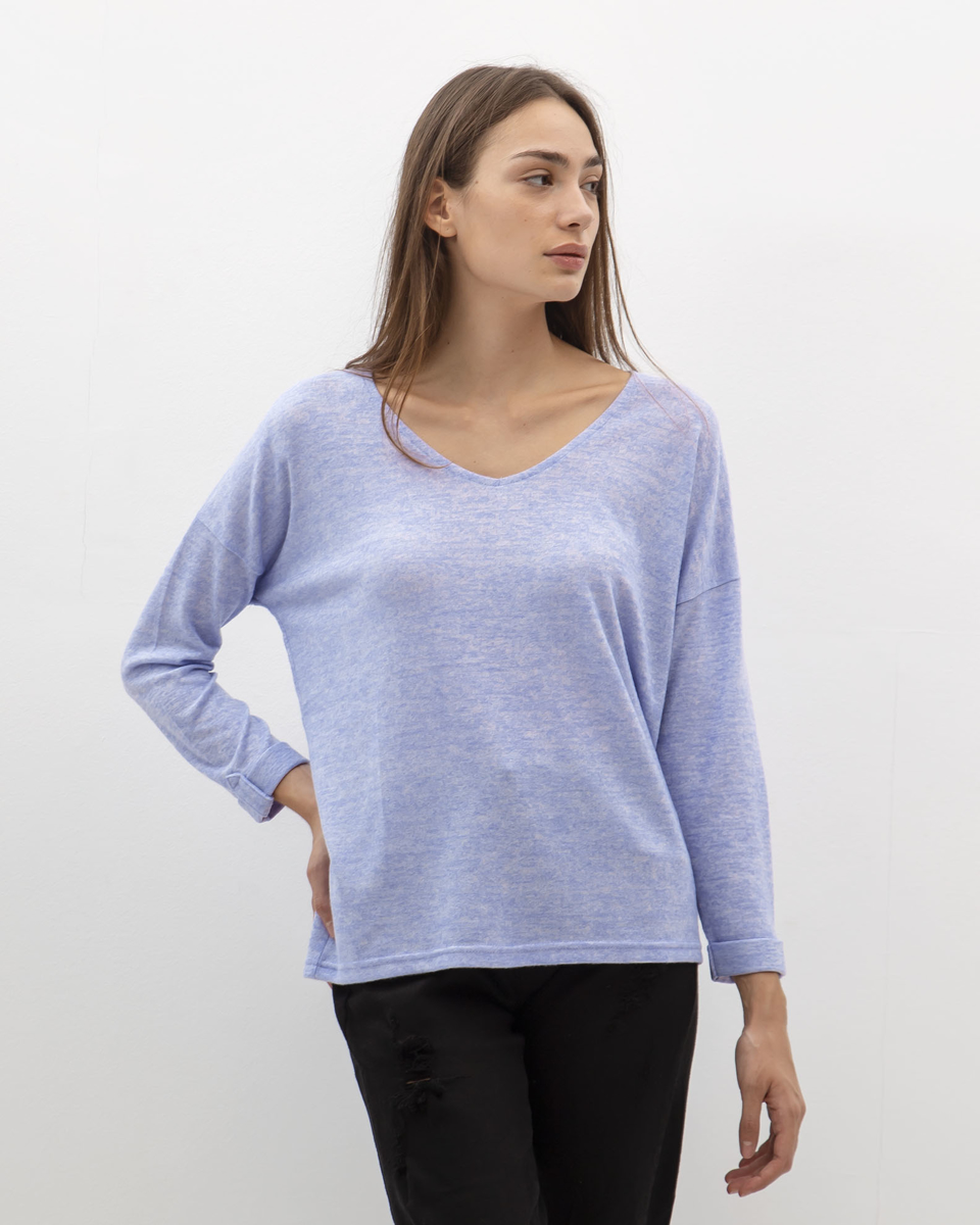 """Picture of Women's 3/4 Blouse Soft Touch """"Mera"""" in Violet"""